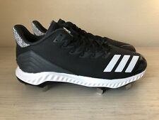 New adidas Men's Icon Bounce Low Metal Baseball Cleats Black Cg5241 Size 11