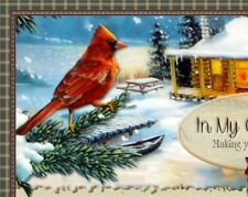 Red Birds Snow Cottage Vtg Winter Compliant Ebay Listing Auction Template