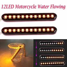 2x Sequential Flowing Motorcycle LED Mini Strips LED Turn Signal Light Indicator