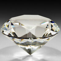 Crystal Clear Giant Glass Diamond Paperweight Faceted Cut Jewelry Craft 30-100MM