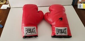 VTG Everlast Boxing Gloves Yellow Label 16oz & 12oz Made in USA Good Condition