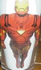 Iron Man Marvel Heroes 2010 Drinking Glass  Bottom Label 12 oz