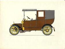 Stampa antica AUTOMOBILE 1911 ADLER 12 Olivier 1960 Old antique print car