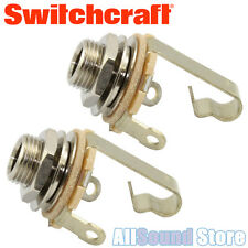 NEW LOT OF 2 Switchcraft Mono T/S 1/4