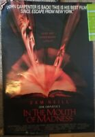 """ORIGINAL! JOHN CARPENTER'S """"IN THE MOUTH OF MADNESS"""" 27""""x41"""" Movie Poster 1995"""