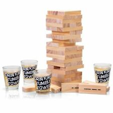 TUMBLE TIPSY TOWER SHOTS DRINKING GAME JENGA ADULT DRINK GLASSES PARTY