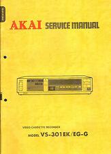 Akai Original Service Manual  für VS-301 mit Schaltbildern
