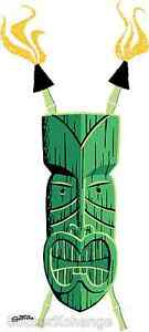 Mini Size Shag Sticker Decal Green Tiki SH46B