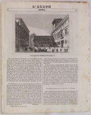 1842 ALBUM ROMA PALAZZO VENEZIA MACCHINE A VAPORE ROME