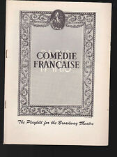 Comedie Francaise Playbill Le Bourgeois Gentilhomme Maurice Escande 1955