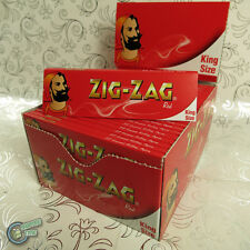 ZIGZAG ZIG ZAG King Size Cigarette Tobacco Rolling Paper Papers Roller Roll Red