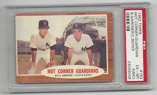 B.Gardner/C.Boyer 1962 Topps Hot Corner Guard.Card, # 163, PSA EX-MT 6 (MC),NY