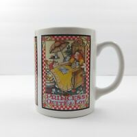 Mary Engelbreit Ink Mug Cup Princess of Quite A Lot Vintage 1994 Coffee Tea