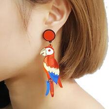 1pair parrot bird earrings,colorful bird ear rings,exaggerate ear rings