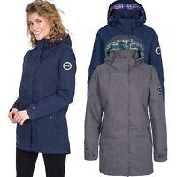 DLX Womens Parka Jacket Long Waterproof Coat in Navy & Grey XXS-XXL