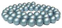 😏 Muschelkernperlen matt blaugrau 8 mm Kugeln Muschel Perlen Strang 😉 MUK-10