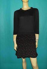 robe COP COPINE manche 3/4 col Claudine noire à fleurs Taille : Medium