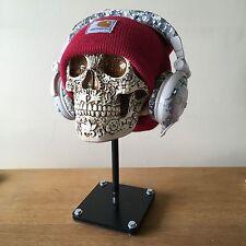 Skull Helmet Stand Motorcycle Crash Helmet Hat Rack Headphone