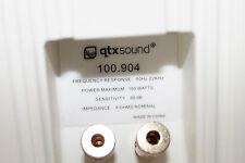 100-904  Pair QTX Sound (Skytronic) Stereo speakers White 8 ohms - wall brackets