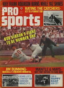 PRO SPORTS MAGAZINE - JULY 1968- MANTLE AND MAYS, FRANK ROBINSON, BOB GIBSON