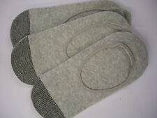 MENS GALIVA SOLE HUGGER GREY COTTON NO SHOW LIGHTWEIGHT SOCK PACK 3 PAIRS SIZE S