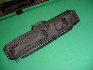 BRAND NEW BLACK NYLON CANVASS 4X8 CUE CASE  pool billiards 08-2959
