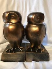 Bloomingville Creative Co-Op 2 Piece Resin Owl Bookends with Bronze Finish