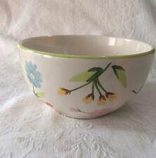 "2 BIA Cordon Bleu EMMA Floral Bowls 3"" X 6"" Wide Creme w/woodland flowers Exc"