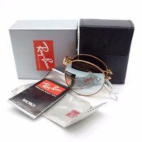 New Ray Ban 3532 Folding 198/9U Bronze Grey Mirror New Authentic Sunglasses