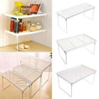 1pc Kitchen Foldable Storage Shelf Rack Holder Organizer For Bathroom Or Cabinet
