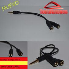 Multiplicador Duplicador Divisor de Auriculares Jack 3.5mm Splitter jack. Negro