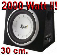 """SUBWOOFER AUTO 12"""" ATTIVO AMPLIFICATO CONO DA 30 CM. 2000 WATT con STOPPER!!!"""