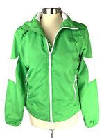 Lauren Active Ralph Lauren Windbreaker Rain Jacket Womens Size M Lime Green