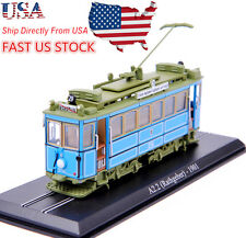 USA Sell 1/87th Atlas Tram Model A2.2(rathgeber) 1901 Diecast Car Tram Model Toy