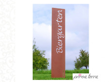 """Edelrost Gartenstele/Gartenstecker """"Biergarten"""", H=120 cm"""