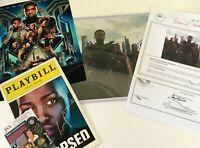 Chadwick Boseman Black Panther Autographed 2 X Signed 8x10 Photo Authentic  COA