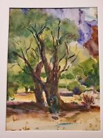 THE OAKS. Original watercolor, signed by artist Patsy Heller, 12x16 inches