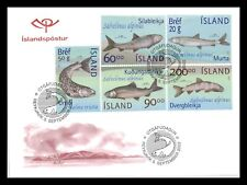 Iceland 2002 FDC, The Fauna in Thingvallavatn, Lot # 1.