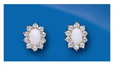 Opal earrings opal Studs Opal Cluster earrings Yellow Gold opal earrings