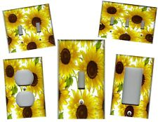 SUNFLOWERS IMAGE No.3 KITCHEN HOME DECOR LIGHT SWITCH PLATES AND OUTLETS