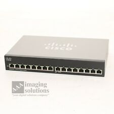 Cisco SG100-16 v2 16-Port Gigabit Network Ethernet Switch Small Business