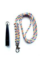 ACME 210.5 Gundog Whistle & Rainbow Cobra Stitch Design Lanyard 210 1/2