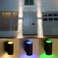 LED Wall Lamp RGB Waterproof Up Down Sconce Light 6W 110V 220V Home KTV Decor RK