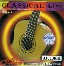 """10 x 1 E 1st string (10 strings) - Black Classical Nylon Guitar Strings .0285"""""""