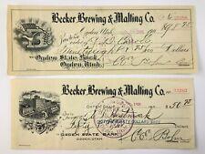 Early 1900s Becker Brewing & Malting Company Utah National Bank Ogden Utah 824A