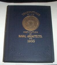 Nautica Ingegneria - Transactions of the Institution of Naval Architects - 1935