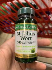 Nature's Bounty St. John's Wort, Double Strength, 300mg, 100 Capsules Exp 8/22
