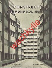 La construction moderne 15/07/1934 Architecture Place Vaugirarrd Paris Hennequet