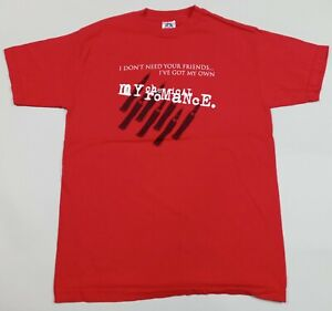 Y2K My Chemical Romance I Don't Need Your Friends I've Got My Own T-Shirt Red M