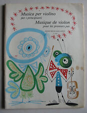 """""""Musique de violon pour les 1ers pas"""", Partition"""